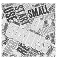 how to start up a small business Word Cloud vector image vector image