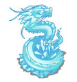 ice figurine of serpent dragon animal vector image vector image