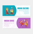 indian culture and dance landing page templates vector image vector image