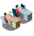 isometric people businessmen and business woman vector image