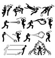 kungfu fighter super human special power mutant vector image vector image