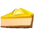 Lemon cheesecake on white vector image vector image