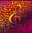 live music notes patern vector image vector image