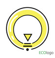 logo is energy logo a stylized light bulb in a vector image vector image
