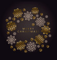 luxury black and gold snowflake xmas pattern vector image vector image