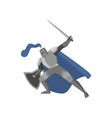 medieval tale knight in metal steel armor with vector image vector image