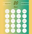 Minimalistic thin line sports sharp icons
