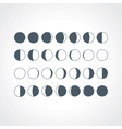 Moon Phases Icons vector image