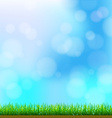 Natural Green Grass Background with Focus and vector image vector image