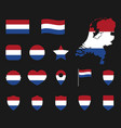 netherlands flag icons set holland flag symbol vector image vector image