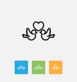 of folks symbol on lovebirds vector image