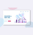 orthopedy and traumatology healthcare website vector image vector image