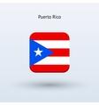 Puerto Rico flag icon vector image vector image
