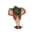 rat wearing fedora hat animal portrait cartoon vector image vector image