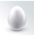 realistic white chicken egg vector image vector image
