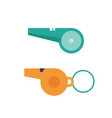 referee sport signal whistles icons vector image