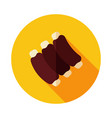 ribs food meat icon vector image
