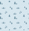 seamless snowfall christmas pattern winter vector image