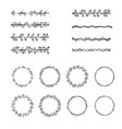 set brushes vector image vector image