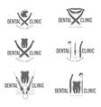 set dental logo vector image