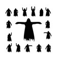 set flying ghost silhouette vector image