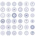 Simple Monogram Design Template vector image vector image