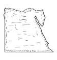 sketch of a map of egypt vector image