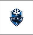 soccer logo design football logo badge design vector image vector image