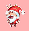 sticker emoji emoticon emotion scream with rage vector image vector image