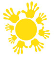 sun icon symbol family friendship joy warm vector image vector image