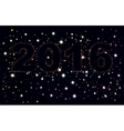 Text 2016 on background of night sky vector image vector image