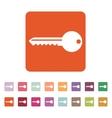 The key icon Key symbol Flat vector image