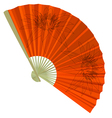 traditional Folding Fans with a flower vector image