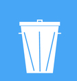 Trash can on a blue background vector image
