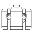 trip leather bag icon outline style vector image vector image