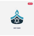 two color ner tamid icon from religion-2 concept vector image vector image