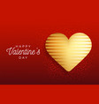 valentine day flyer red background with gold vector image
