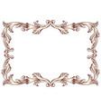 vintage border frame baroque vector image vector image