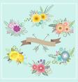 Vintage floral set for decoration 1 vector image vector image