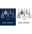 winter holiday christmas balls vector image vector image