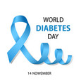 world diabetes day concept background realistic vector image vector image