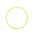 yellow chain in shape of circle vector image vector image