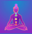 yoga man ornament beautiful esoteric concept of vector image