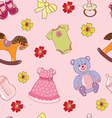 Seamless pattern with girls toys vector image