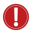 caution advice stop sign road vector image