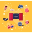 Cinema Flat Design Elements and Icons vector image