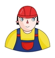 Foreman icon in cartoon style isolated on white vector image