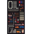 Oil industry infographics set with pipeline brush vector image