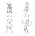 set of abstract human symbols vector image