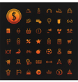 46 icons shopping and Travel set vector image vector image